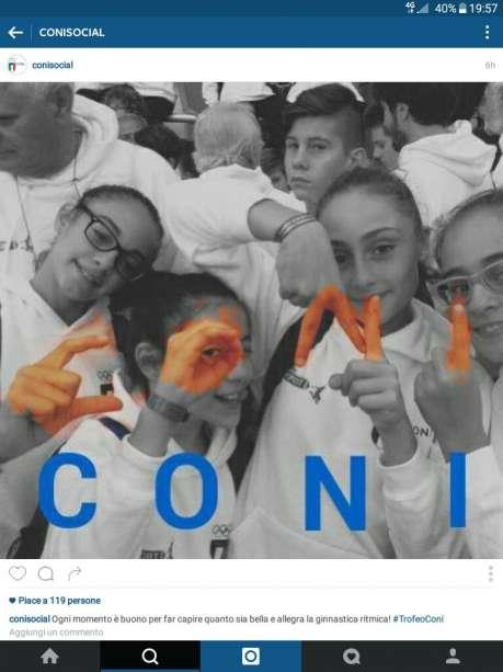 Campagna social Trofeo Coni - Vincitrici parimerito foto Ginnastica