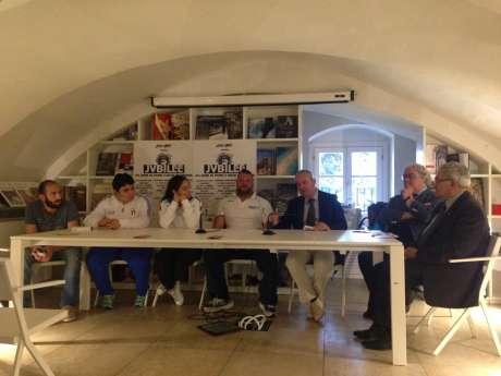l Presidente del Coni Umbria Domenico Ignozza ad un incontro al Festival del Calcio e dello Sport a Perugia
