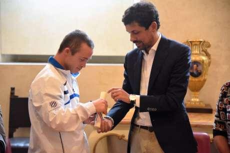 Roberto Baciocchi premiato dal Sindaco di Perugia con il Baiocco d'Oro